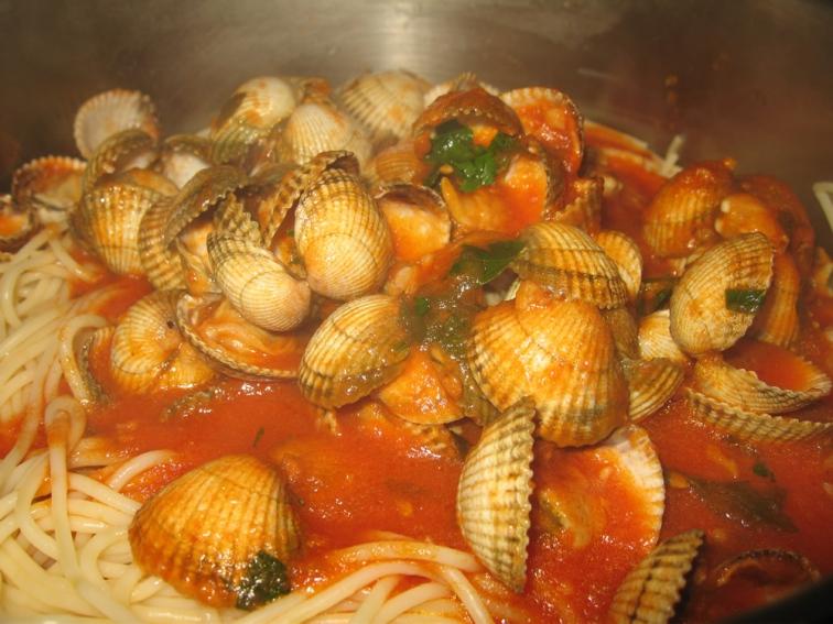 espaguetis vongole
