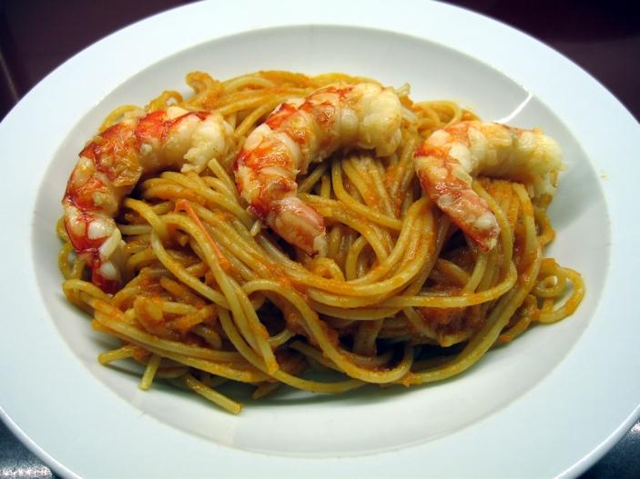 espaguetis amb gambes